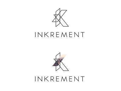 Inkrement Logo Concept geometric inkrement branding logo