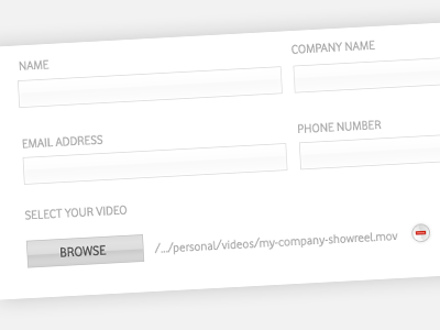 Client Form form minimal draft video upload button ui layout