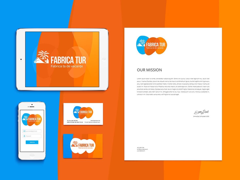 Branding for Travel Agency style vector sea sun travel branding logo