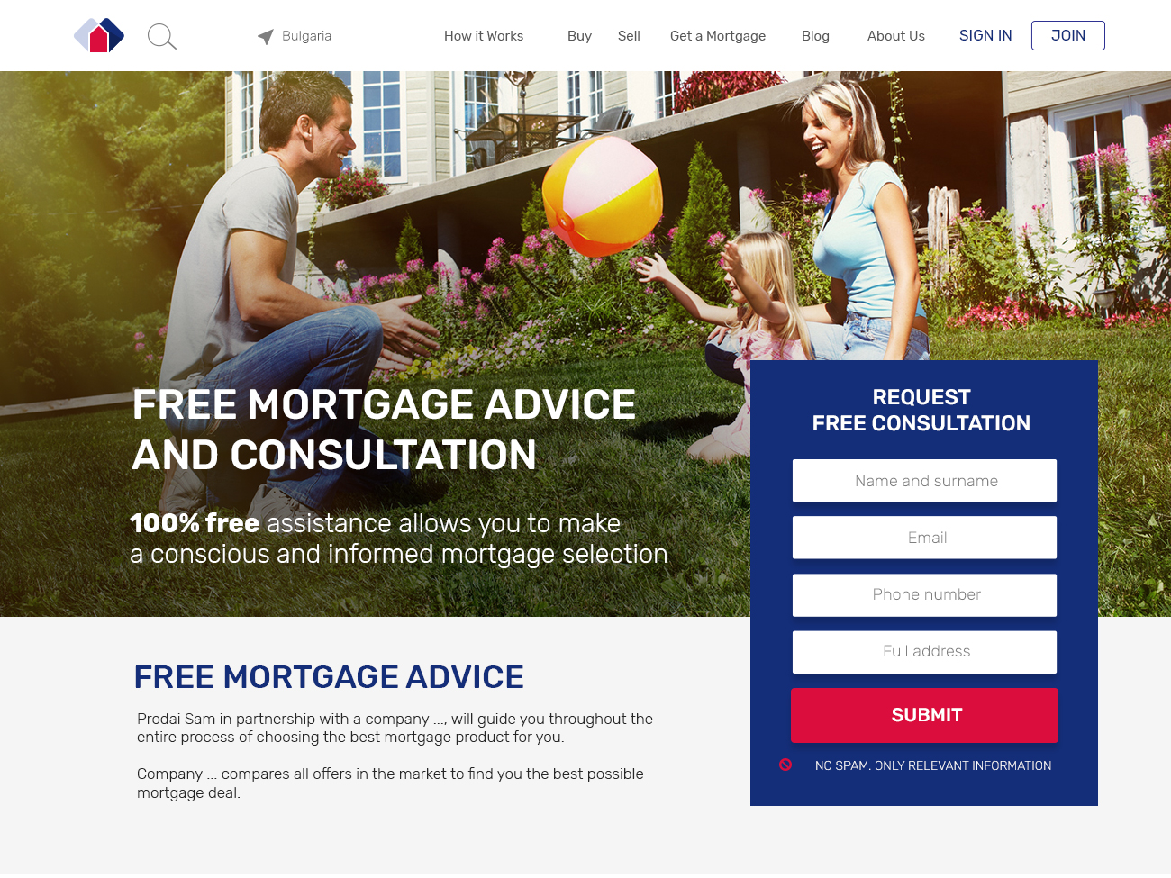 Landing page for Mortgage campaign branding flat web vector icon ui ux design typography photo material ui illustration dashboard design saas landing page design material design real estate agency web design real estate