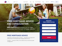Landing page for Mortgage campaign