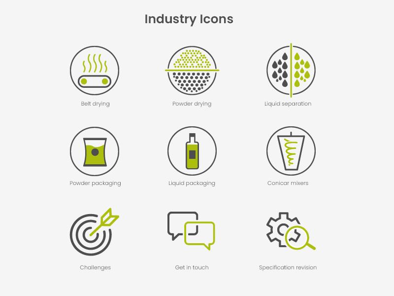Set of icons for e-commerce icon designer icon artwork logo design gray icon icon design oultin icons flat design green color