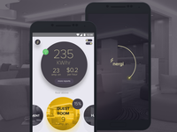Electricity monitor Mobile application design