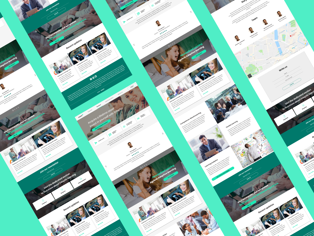 Responsive design using vuetify framework by Arthur Zudin on Dribbble