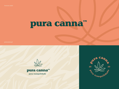 Pura Canna cannabis canna pura cbdoil premium neutral earth smooth logo design branding identity branding concept logo cbd logo cbd branding