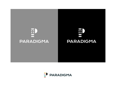 Paradigma Logo branding brand clothing design clothing label clothing brand clothing study black  white logodesign logo design logo