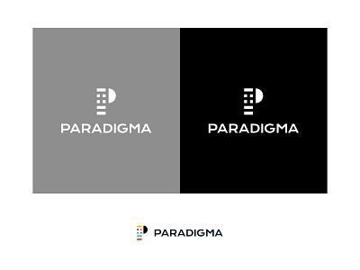 Paradigma Logo branding brand clothing design clothing label clothing brand clothing study black  white logodesign logo design logo