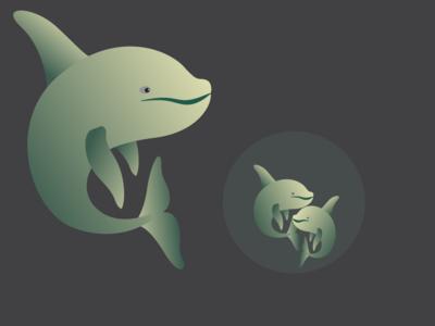 Fish Logo interaction ios vector icon minimal brand ux blue web app website character illustrator ui creative animation design branding logo illustration