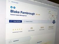 Advisor Profile Layout