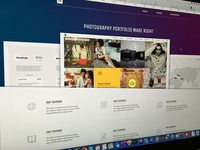 Photography Theme Landing page