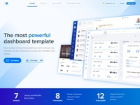 Landing page animation for admin dashboard HTML template