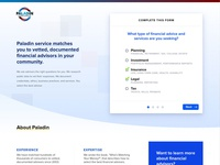 Landing page with a form