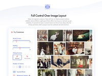 Landing page for my Photography Wordpress Theme