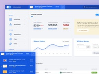 Banking App Layout in HTML Template