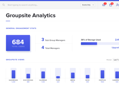 Analytics Panel for a project I am working on