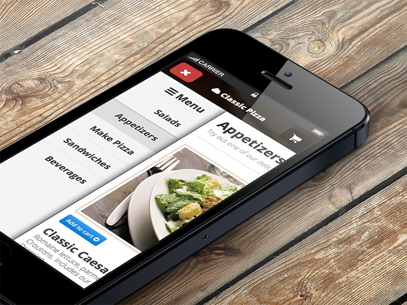 Responsive Side menu with css for iphone by ThemeBully on