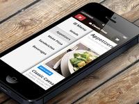 3d iphone restaurant menu full