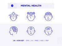 Mental Health Icon Set