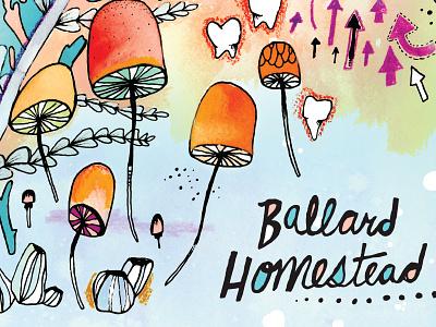 Ballard Homestead illustration show poster