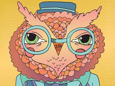 Kh Office Owl art owl bird drawing illustration