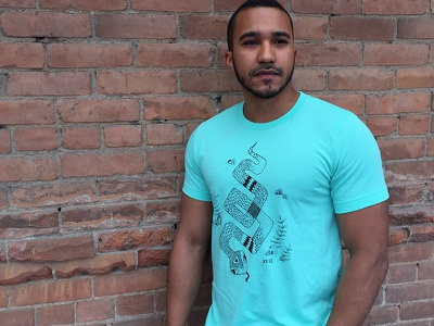Snake Shirt product illustration snake t-shirt shirt
