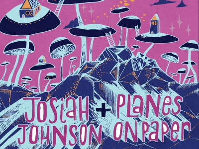 Tour Poster color bright trippy lettering illustration show poster