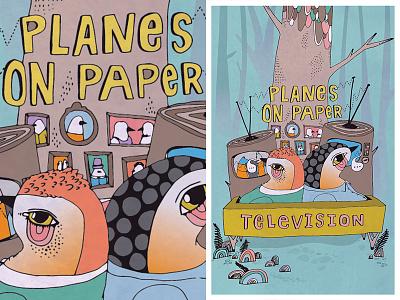Television cd bird birds lettering illustration show poster