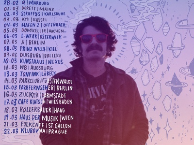 European Tour Poster psychedelic background illustration show poster tour poster