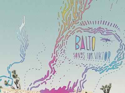 Songs For Viktor gradient trippy digital illustration poster design