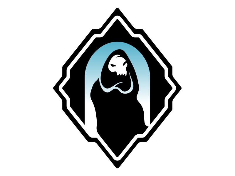 Ghost Quarter Logomark dungeons and dragons logomark two color dd ghost logo