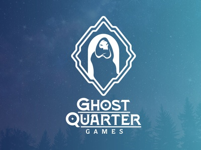 Ghost Quarter Games Logo dungeons and dragons nerdy games logomark two color dd ghost logo
