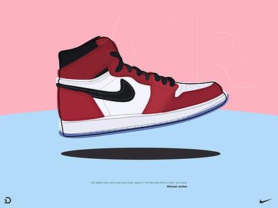 Nike Air Jordan red illustration jordan nike air shoe nike