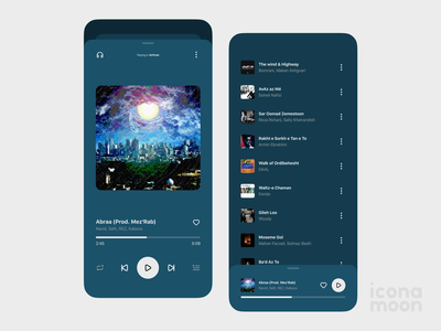 Music Player App playlist player music cover play dark music icon uiux music player ui icons