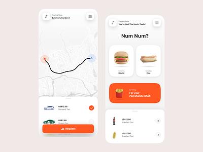 Tapsi Num Num! food uiux map driver orange taxi snapp uber ui tapsi
