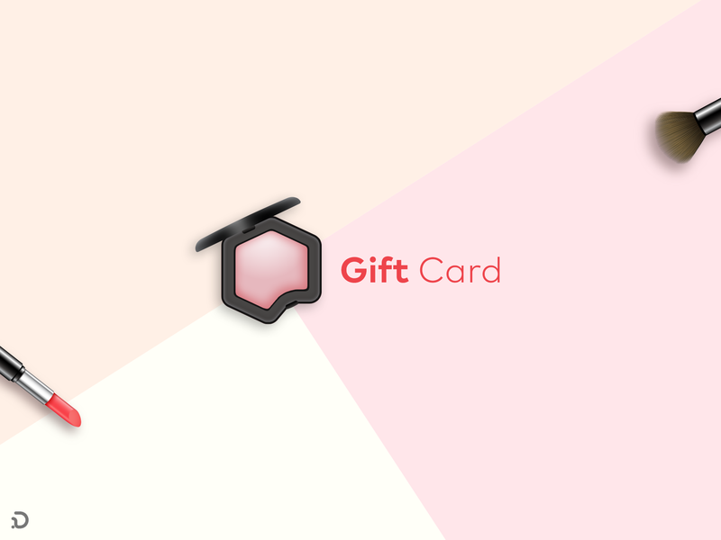 Gift Blush! makeup website rounded corner persian logo deisgn logo khooger illustration gift cards gift card giftcard gift furniture design card mockup