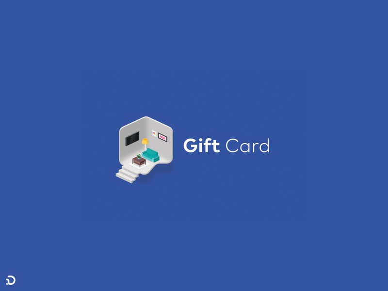 Gift House! isometric gift card giftcard gift illustration khooger website persian