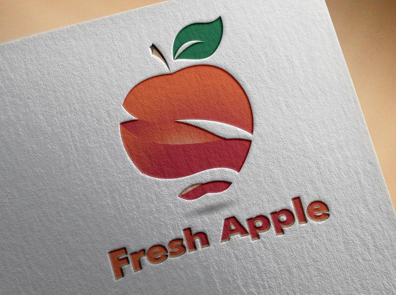 Fresh Apple Logo typography business card design illustration book cover design uniqe business card creative business card business card logo design branding