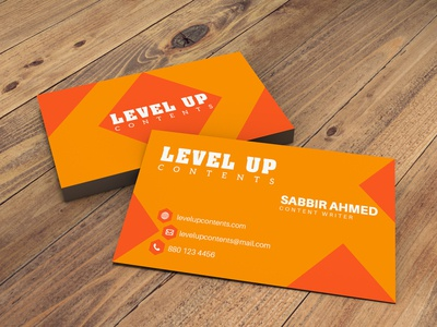 Business Card Design for Content Creator