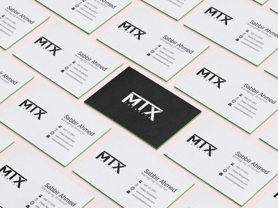 MTX Minimalist business card design