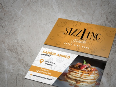 Restaurant Business card Design creative business card branding illustration business card logo design