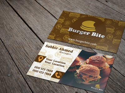 Burger Bite Business card business card design branding creative business card business card logo design