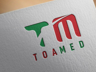 TOAMED Logo Design notebook pad book covers graphic design branding business card logo