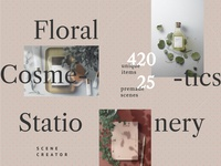 Cosmetics, Floral, Stationery / Mockup Bundle