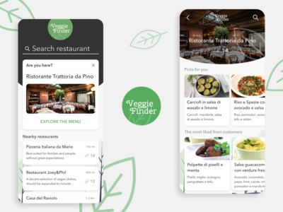 VeggieFinder - App UI
