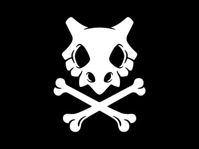 Cubone Crossbones n6 narrative 6 creative character illustraion pokemon go pokémon bone skull and crossbones skull flag pirate jolly roger crossbones pokemon cubone