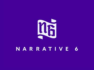 Narrative 6 apparel clothing narrative6 branding design badge illustration sticker icon logo