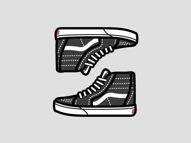64bb2baa22 Vans Sk8 Hi. by Zach Hannibal in Sneakers. Save  Like. Vans Sk8 Hi shoe  icon stitches laces kicks skate jordans sneakers shoes ...