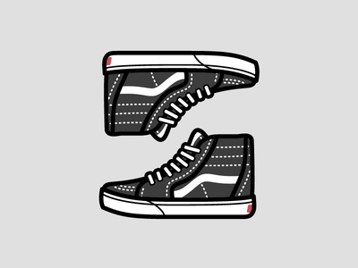 Vans Sk8 Hi shoe icon stitches laces kicks skate jordans sneakers shoes hi sk8 vans