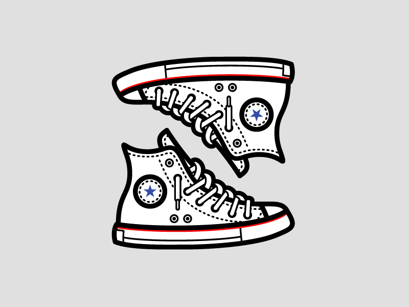 Converse Chuck Taylor by Zach Hannibal | Dribbble | Dribbble