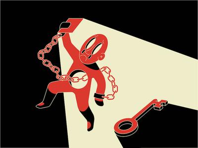 Social Vices (2/2) avatar flat vector editorial illustration addiction envy phone chain vice media social